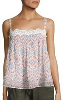 Joie Sevy Printed Silk Camisole
