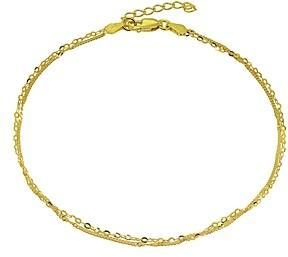 Aqua Double Chain Ankle Bracelet - 100% Exclusive
