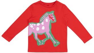 Stella Mccartney Kids Painted Horse Long-Sleeved Top (2-14+ Years)