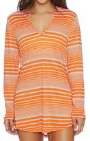 Splendid Women's Sun Sational Solids Hoodie Tunic Cover up