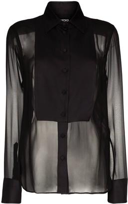 Tom Ford Sheer Bib-Front Shirt
