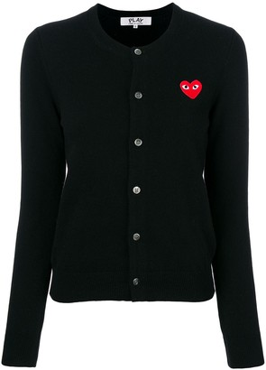 Comme des Garcons Heart Logo Cardigan