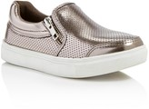 Steve Madden Girls' Jellias Double Zipper Metallic Sneakers - Little Kid, Big Kid