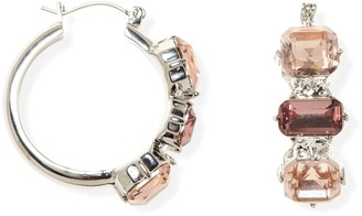 Vince Camuto Cluster Stone Accented Hoop Earrings