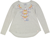 Lucky Brand Light Heather Big Geometry Long-Sleeve Tee - Girls