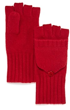 Bloomingdale's C by Ribbed Pop-Top Cashmere Gloves - 100% Exclusive