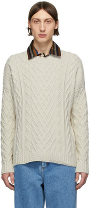 Loewe Off-White Cable Knit Sweater