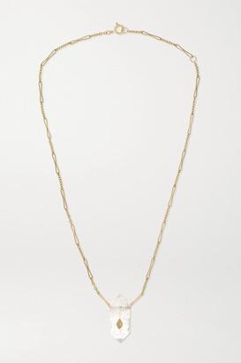 Pascale Monvoisin Prana N1 9-karat Gold, Crystal And Diamond Necklace