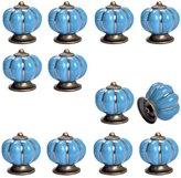 12pcs Pumpkin Ceramic Drawer Pulls Yazer Cute Stylish Elegant Knobs and Handles for Cabinet