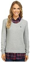 U.S. Polo Assn. Plaid Twofer Sweater Top