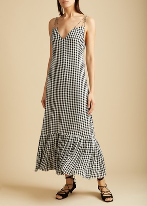 KHAITE The Stacey Dress in Gingham