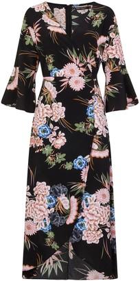 Girls On Film Printed Wrap Maxi Dress