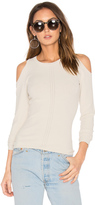 Autumn Cashmere Pointelle Cold Shoulder Sweater