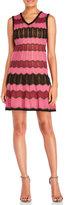 M Missoni Sleeveless Knitted Ripple Stripe Dress
