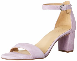 Naturalizer Womens Vera Silver Leather Ankle Straps 7 W