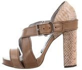Piazza Sempione Multistrap Python-Accented Sandals