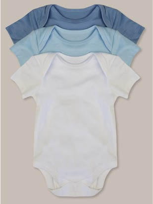 M&Co Short sleeve bodysuits three pack (tinybaby-18mths)