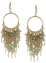 ABS by Allen Schwartz Beaded Chandelier Drop Earrings
