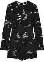 Anthony Vaccarello Laser-Cut Scuba Mini Dress