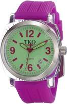 TKO ORLOGI Women's TK558-GPR Milano Junior Acrylic Case Dial Watch