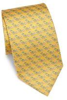 Salvatore Ferragamo Elephant Silk Tie