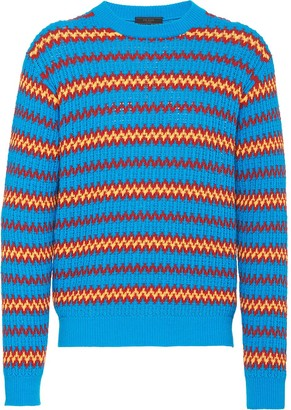 Prada Wool-Blend Knitted Jumper