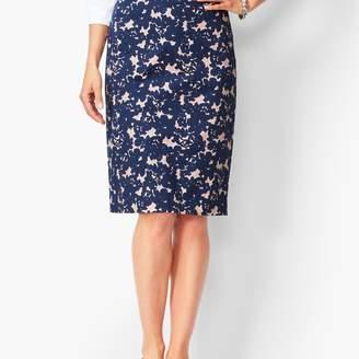 Talbots Floral Pencil Skirt