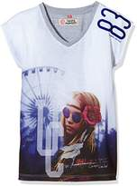 Camps Girl's Printed T-Shirt - White