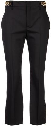 Prada Embellished Trim Cropped Trousers