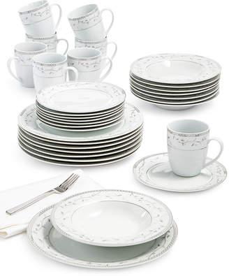 Fitz & Floyd Platinum Vine 32-Piece Dinnerware Set, Service For 8