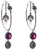 Alexander McQueen Embellished Hoop Earrings