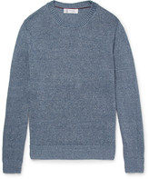 Brunello Cucinelli - Mélange Linen And Cotton-blend Sweater