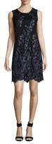 Karl Lagerfeld Embroidery Floral Shift Dress