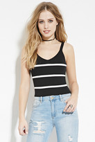 Forever 21 Striped V-Neck Sweater Top