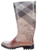 Burberry Floral House Check Rain Boots