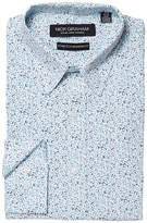 Nick Graham Floral Print CVC Stretch Dress Shirt Men's Clothing