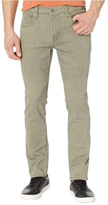 Hudson Blake Slim Straight Zip Fly in Dark Olive (Dark Olive) Men's Jeans