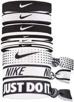 Mens Nike Black/White Hair Ties Nine Pack