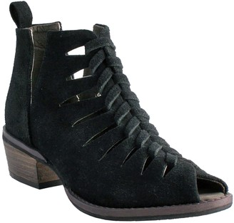 NOMAD Leather Open Toe Booties - Jill