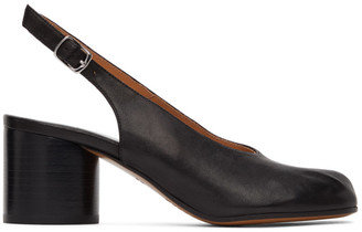Maison Margiela Black Slingback Tabi Pump Heels