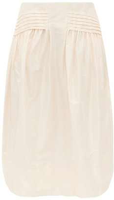 Simone Rocha Taffeta Midi Skirt - Womens - Light Pink
