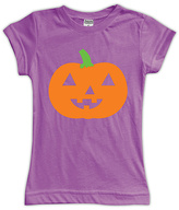 Urban Smalls Purple Cute Jack-O'-Lantern Fitted Tee - Toddler & Girls