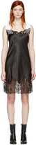 Givenchy Black Satin Slip Dress