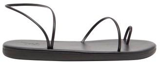 Ancient Greek Sandals Kansiz Leather Sandals - Black