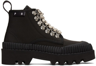 Proenza Schouler Black Hiking Boots