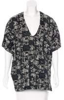 Marissa Webb Tweed Short Sleeve Top t