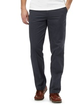 Maine New England Big And Tall Dark Blue Tailored Fit Chinos