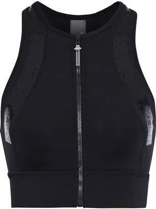 adidas by Stella McCartney Cutout Jersey And Mesh Sports Bra