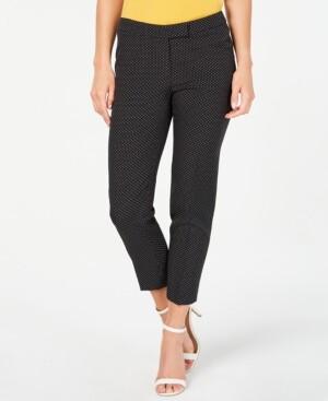 Anne Klein Micro-Dot Cropped Pants
