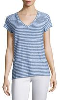 Vineyard Vines Striped Slub V-Neck Tee